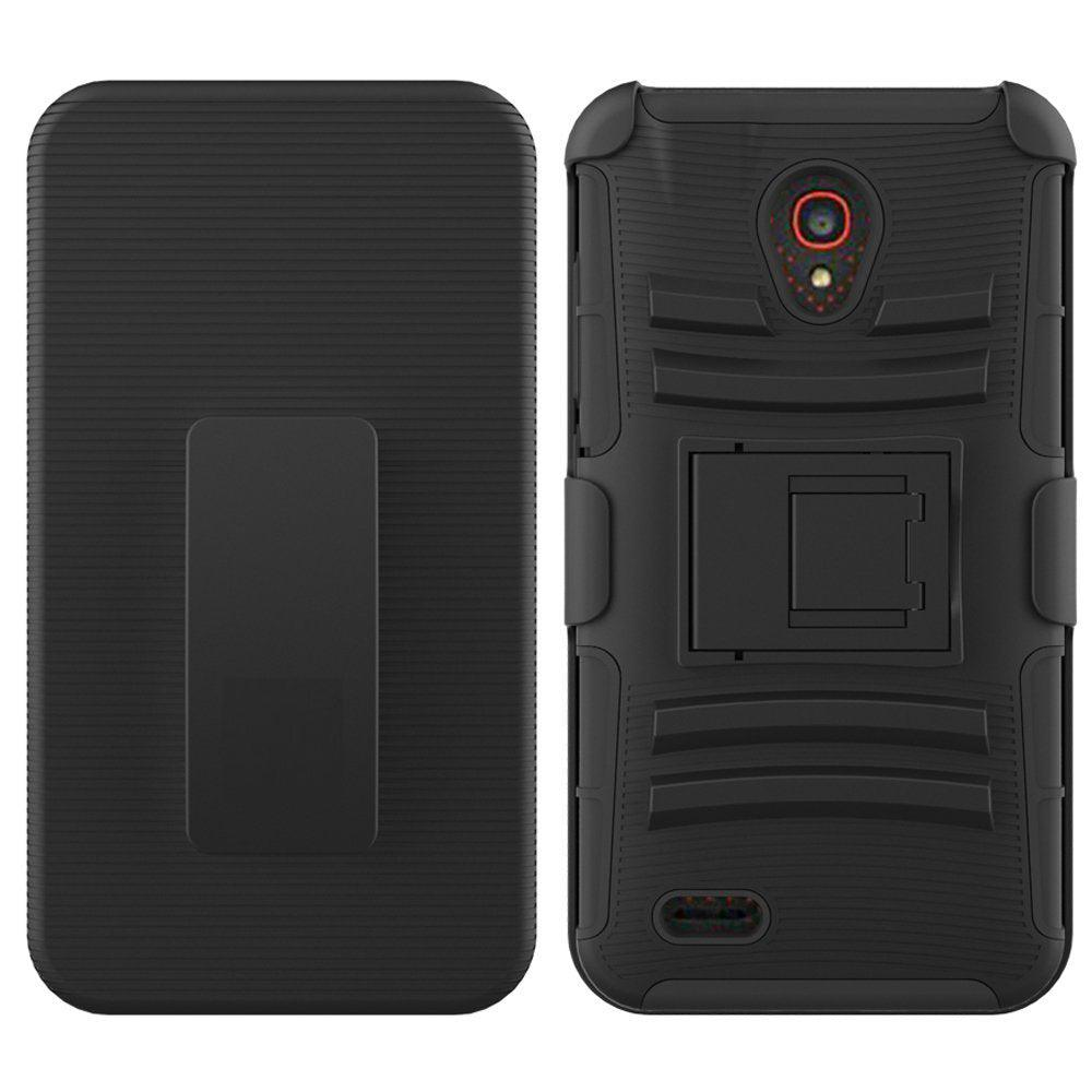 Alcatel One Touch Conquest 7046T Armor Belt Clip Holster Case Black by Modes