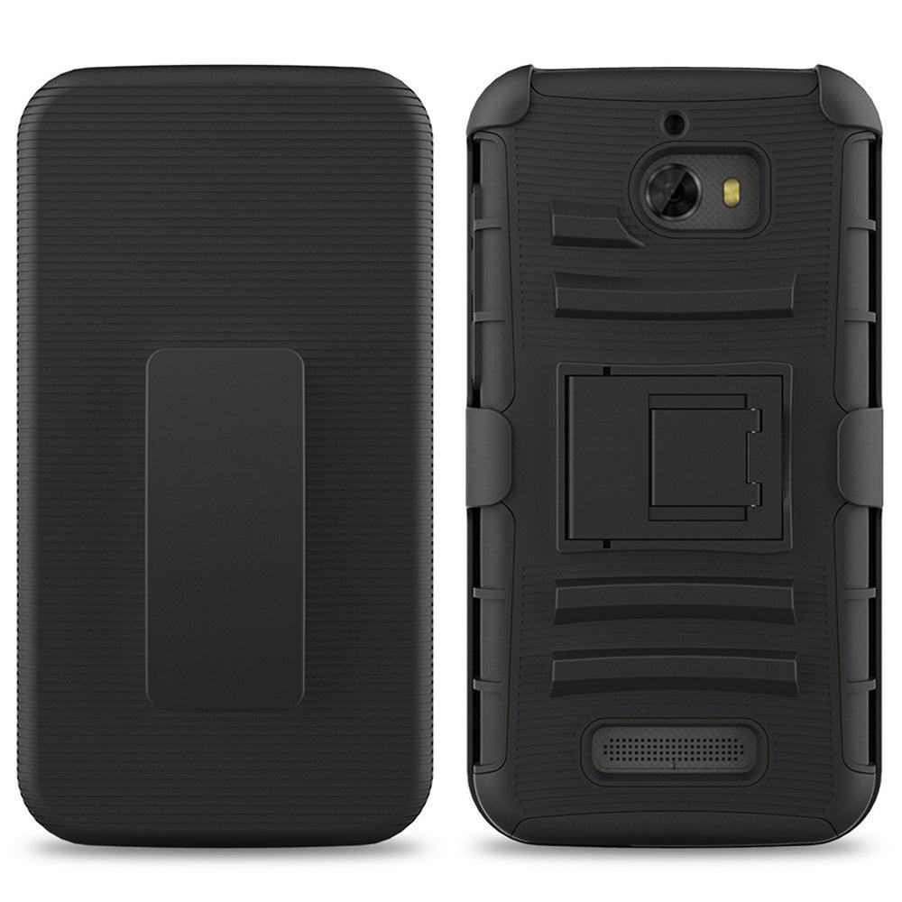 CoolPad Defiant / 3632 Armor Belt Clip Holster Case Black by Modes