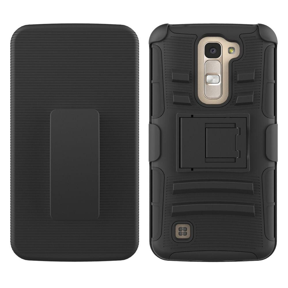 LG K7 / Tribute 5 Armor Belt Clip Holster Case by Modes