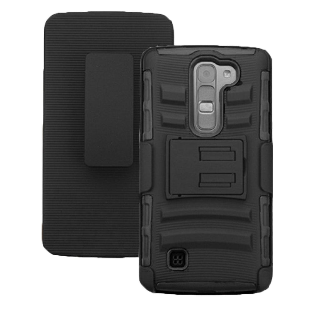 LG Volt 2 / LS751 Armor Belt Clip Holster Case Black by Modes