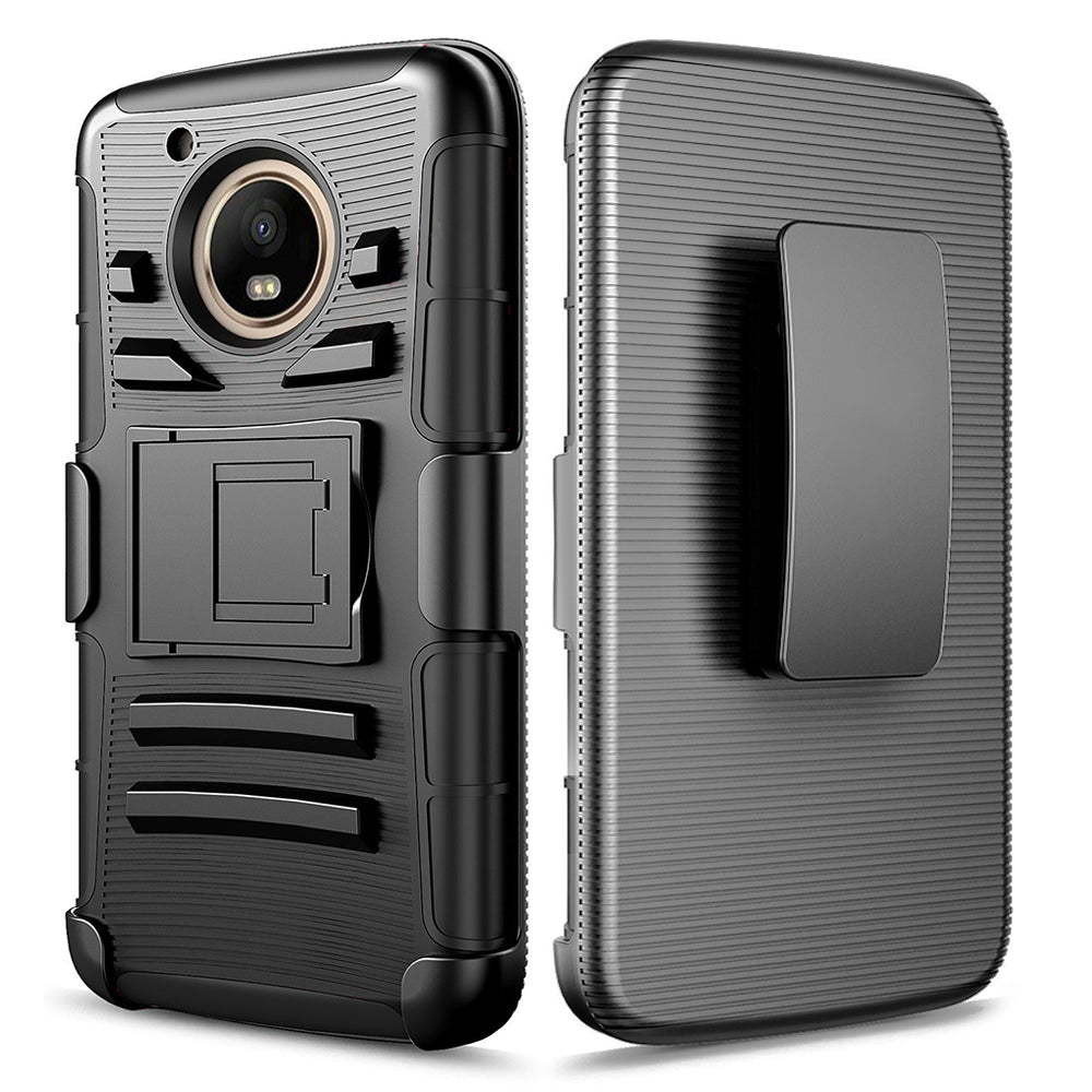 Motorola Moto E4 Plus / XT1770 / XT1773 Armor Belt Clip Holster Case by Modes