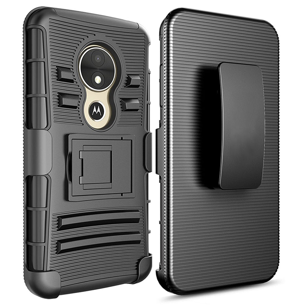 Motorola Moto E5 Play / XT1921 / E5 Cruise Armor Belt Clip Holster Case by Modes