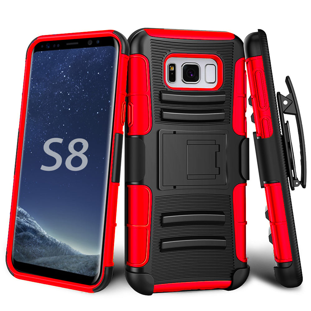 Samsung Galaxy S8 Armor Belt Clip Holster Case by Modes