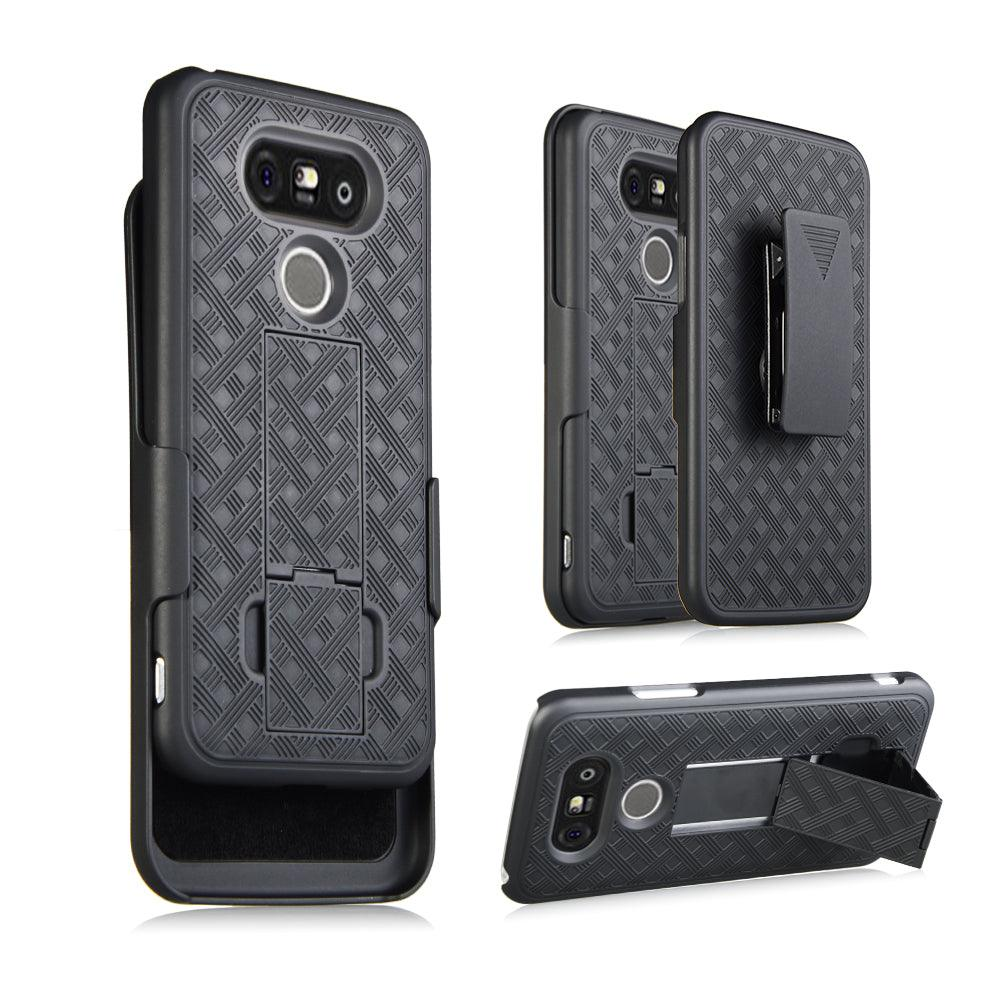 LG G5 Slim Hard Shell Holster Case with Kickstand by Modes