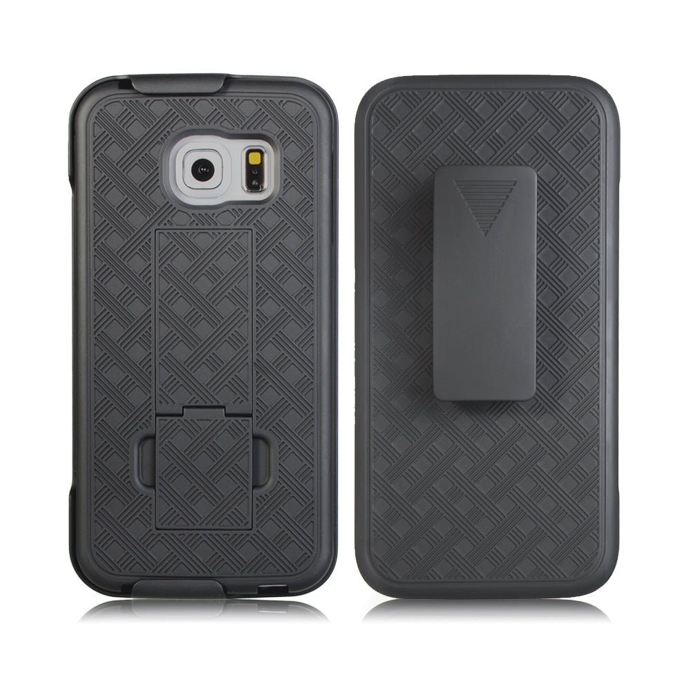 Samsung Galaxy S7 Edge Slim Hard Shell Holster Case with Kickstand by Modes