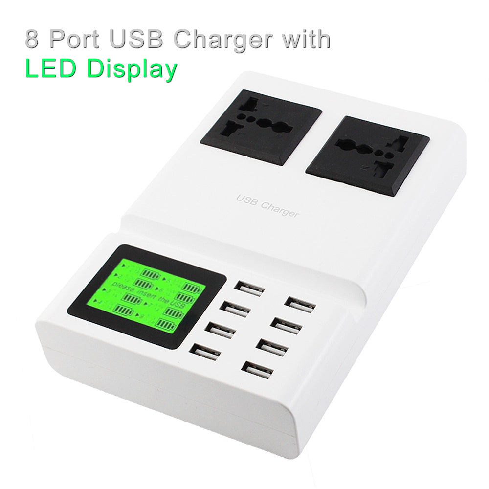 Universal 8 Port USB Charger & Power Adapter Socket White by Modes