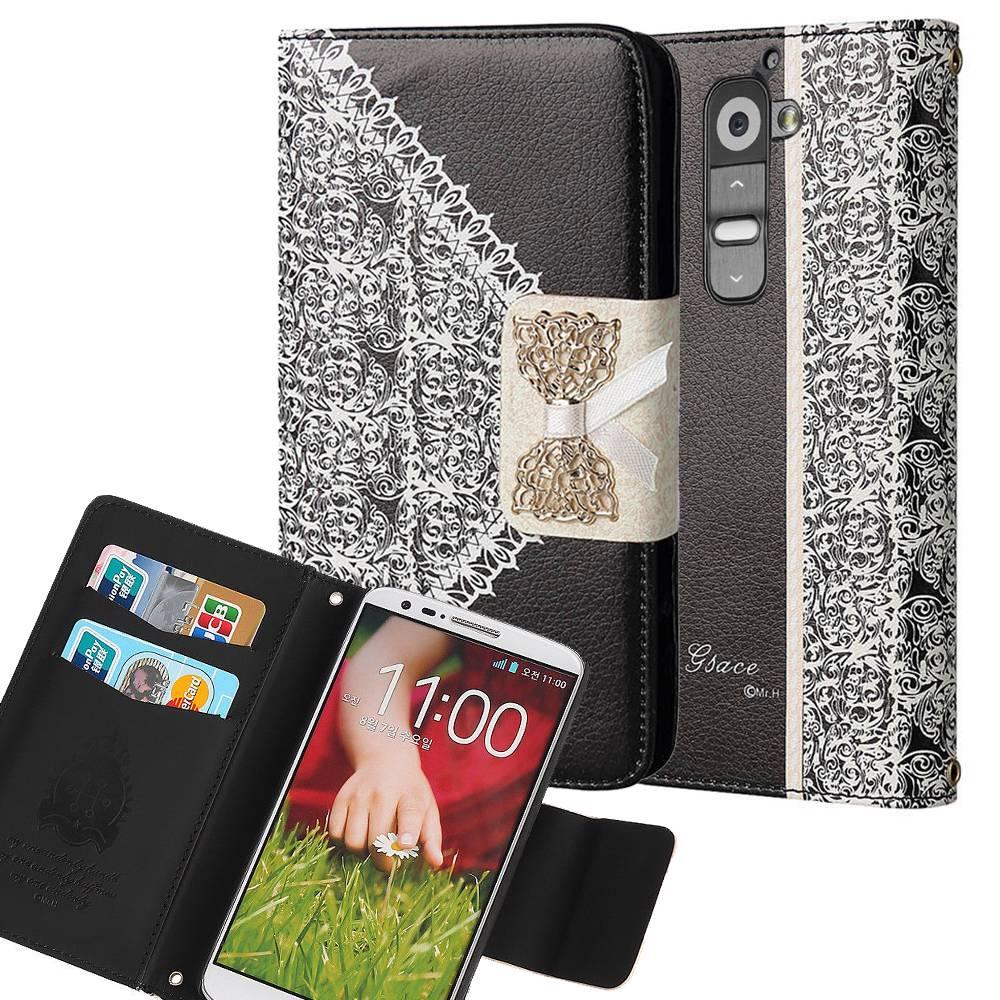 LG G2 / D802 Bow Luxury PU Leather Flip Case Wallet Cover by Modes