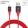 Apple iPhone 5/5S/SE 6/6S 7/8 7Plus/8Plus X/10 Fast Charge 6Ft 2.4Amp Lightning USB Two Tone Cable by Modes