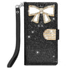 Samsung Galaxy S9 Plus Diamond Bow Glitter Leather Wallet Case by Modes