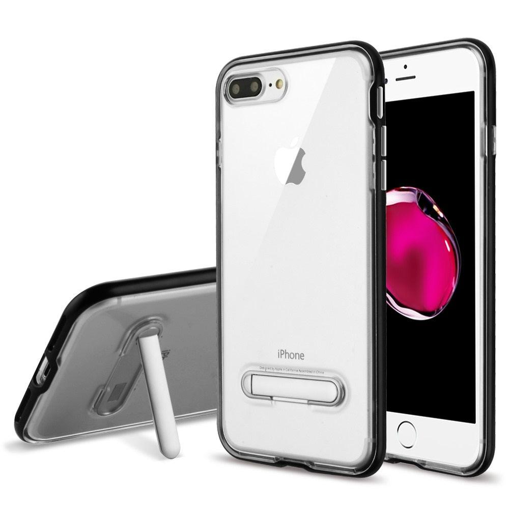 Apple iPhone 8 Plus / iPhone 7 Plus Slim Hybrid Transparent Bumper Shockproof Case with Kickstand by Modes