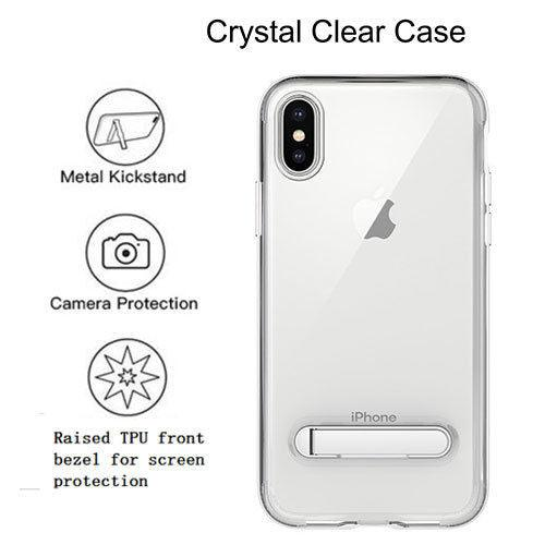 Apple iPhone XR (6.1inch) Slim Hybrid Transparent Bumper Shockproof Case with Kickstand by Modes