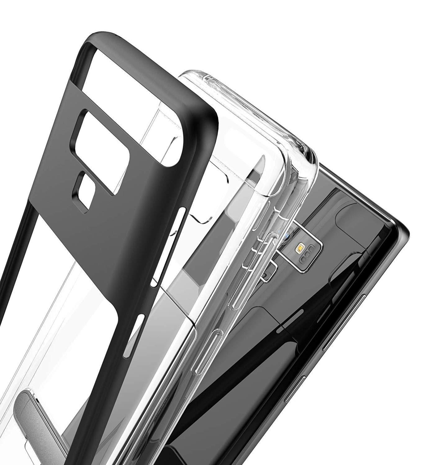 Samsung Galaxy Note 9 / N960 Slim Hybrid Transparent Bumper Shockproof Case with Kickstand by Modes