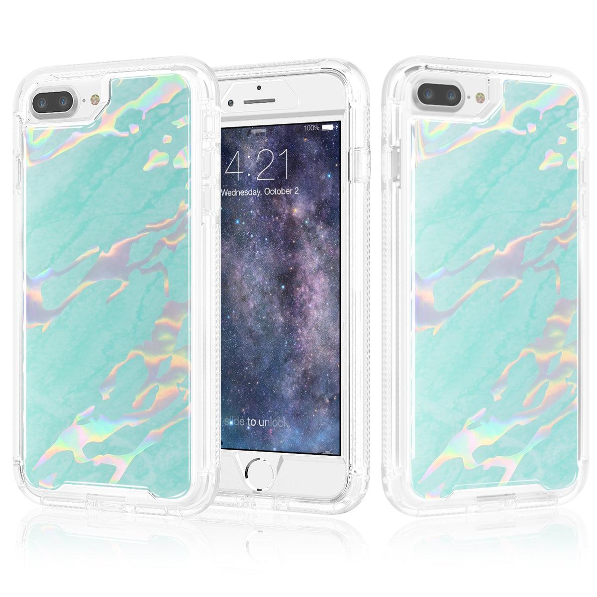 Apple iPhone 8 / iPhone 7 Marble Transparent Defender Armor Hybrid Case by Modes