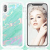 Apple iPhone XS MAX (6.5inch) Marble Transparent Defender Armor Hybrid Case by Modes