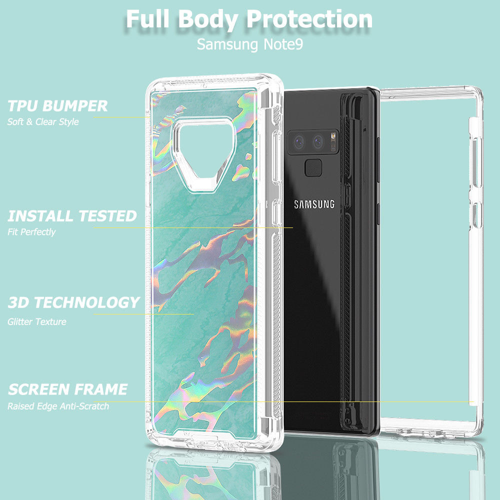 Samsung Galaxy Note 9 / N960 Marble Transparent Defender Armor Hybrid Case by Modes