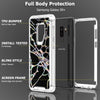 Samsung Galaxy S9 Plus Marble Transparent Defender Armor Hybrid Case by Modes