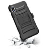 iPhone X / 10 Armor Belt Clip Holster Case Black by Modes