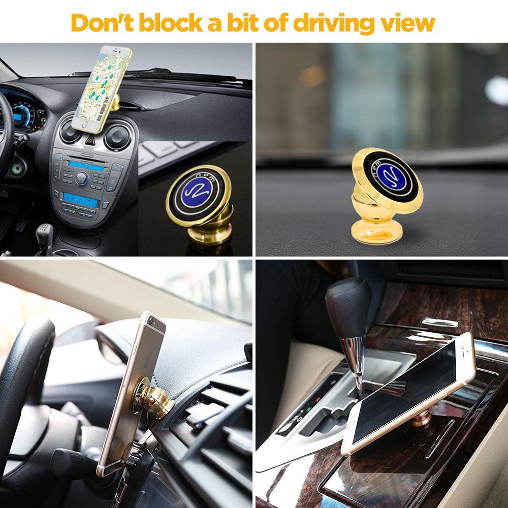 360 Degree Car Anti Rust Ball Magnetic Windshield Dashboard Suction Mount Holder - A by Modes