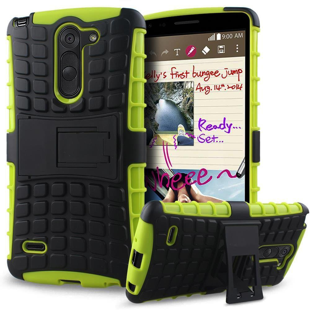 LG G3 Stylus / D690 TPU Slim Rugged Hybrid Stand Case by Modes