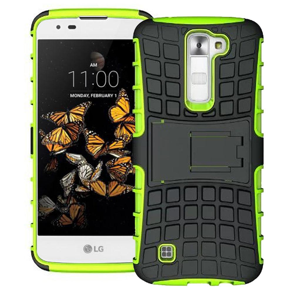 LG K8 / K350N TPU Slim Rugged Hybrid Stand Case by Modes