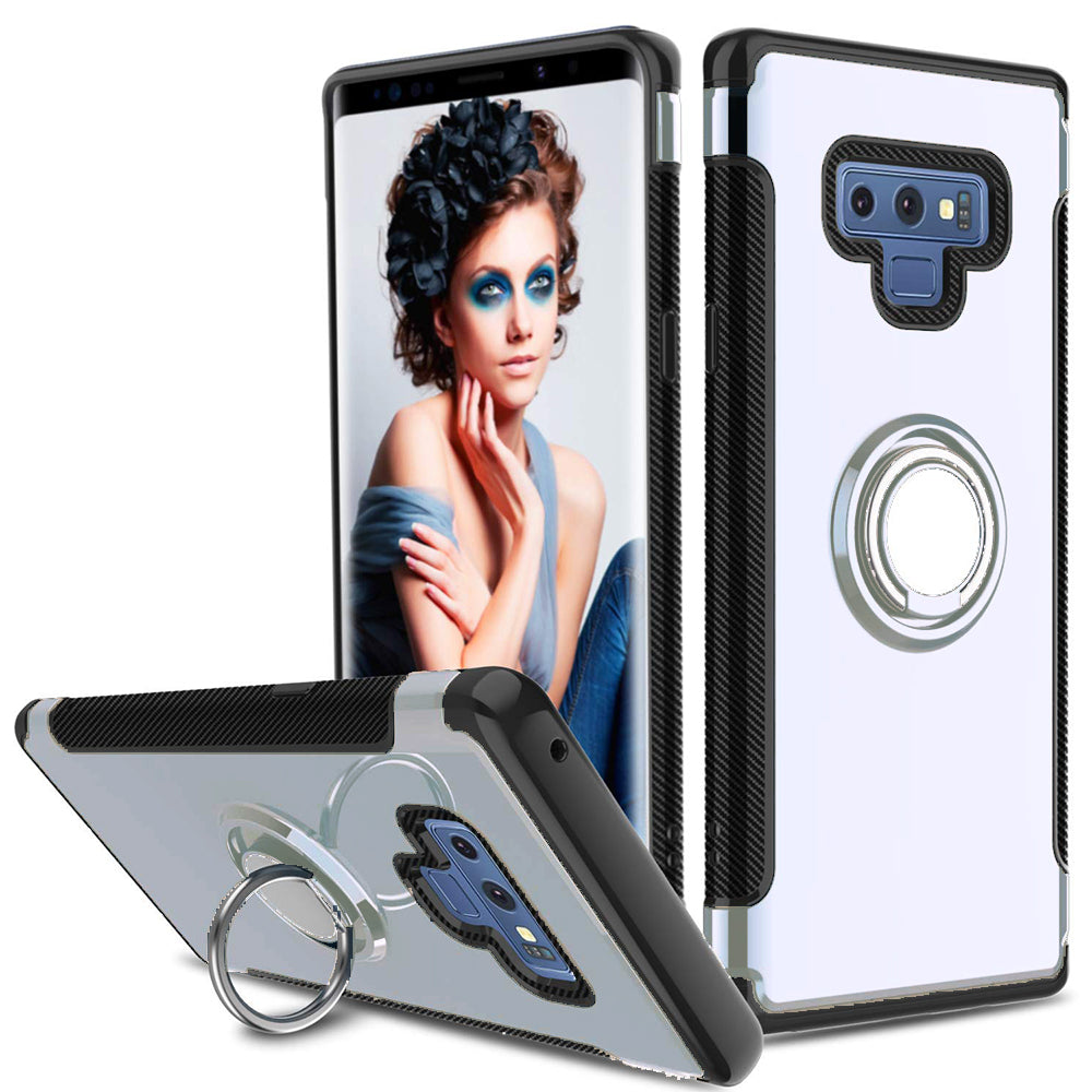 Samsung Galaxy Note 9 / N960 Dual layer Hybrid Shockproof Magnetic Car Mount Finger Ring Stand Case by Modes