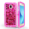 Samsung Galaxy J7 2018 / J737 / Refine Tough Defender Sparkling Flowing Liquid Glitter Heart Case by Modes