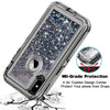 Apple iPhone XR Tough Defender Sparkling Flowing Liquid Glitter Heart Case by Modes