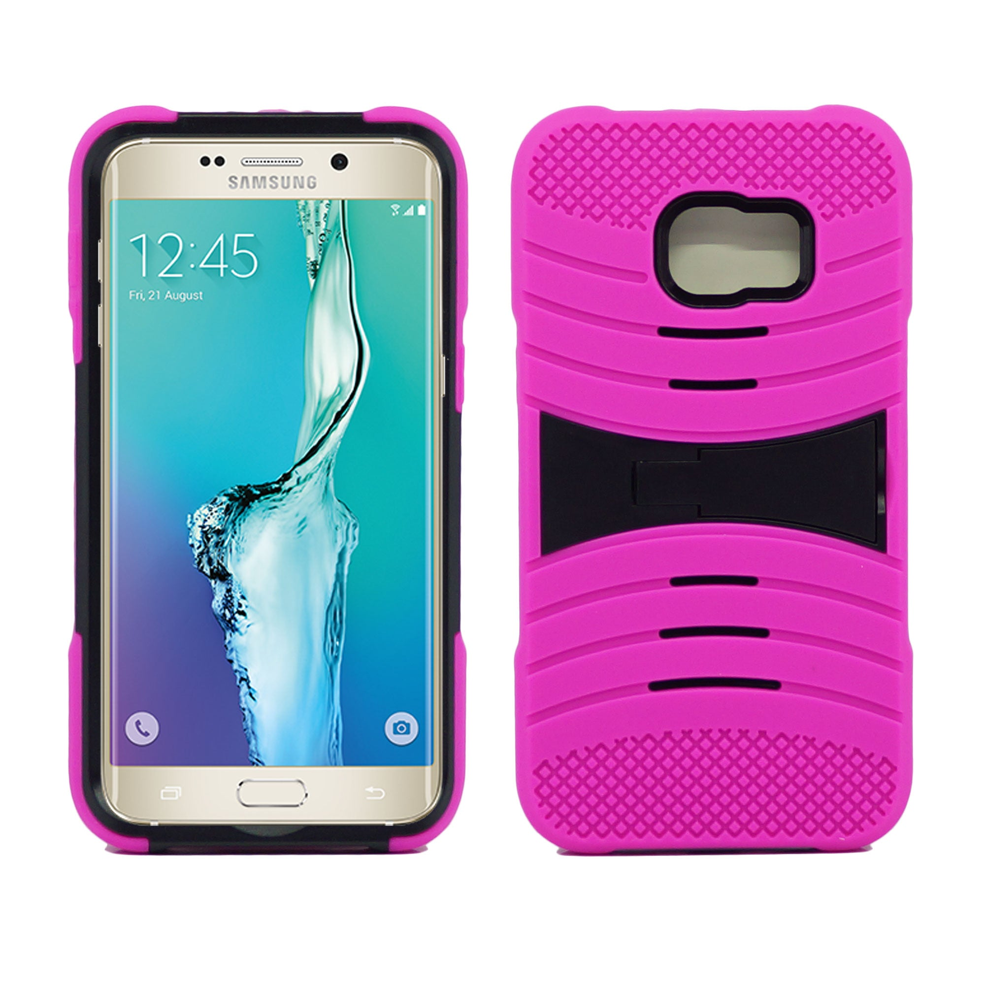 Samsung Galaxy S6 Edge Plus Hybrid Silicone Case Stand by Modes