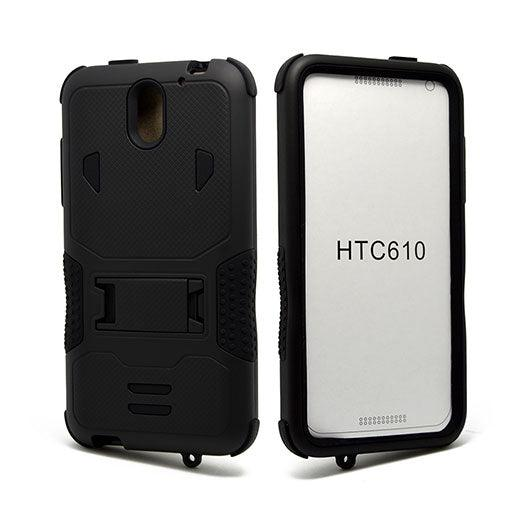 HTC Desire 610 Impact Silicone Case Dual Layer with Stand by Modes