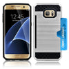 Samsung Galaxy S7 Slim PC Brushed Metal Protective Credit Card Slot Case by Modes