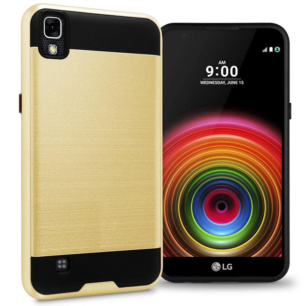 LG X Power / K210 / K6P Hybrid Brushed Metal Shockproof Tough Case by Modes