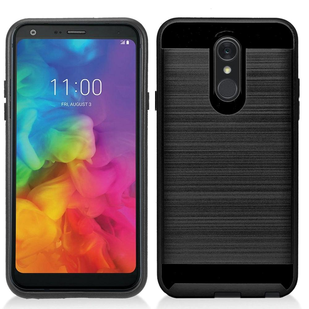 LG Q7 / Q7 Plus 2018 / Q610 Hybrid Brushed Metal Shockproof Tough Case by Modes