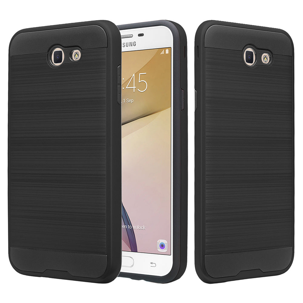 Samsung Galaxy On 7 2016 / J7 Prime / J7 2017 Hybrid Brushed Metal Shockproof Tough Case by Modes