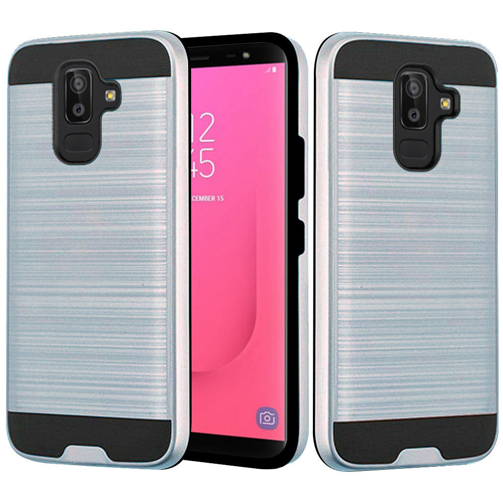 Samsung Galaxy J8 2018 / J810 Hybrid Brushed Metal Shockproof Tough Case by Modes