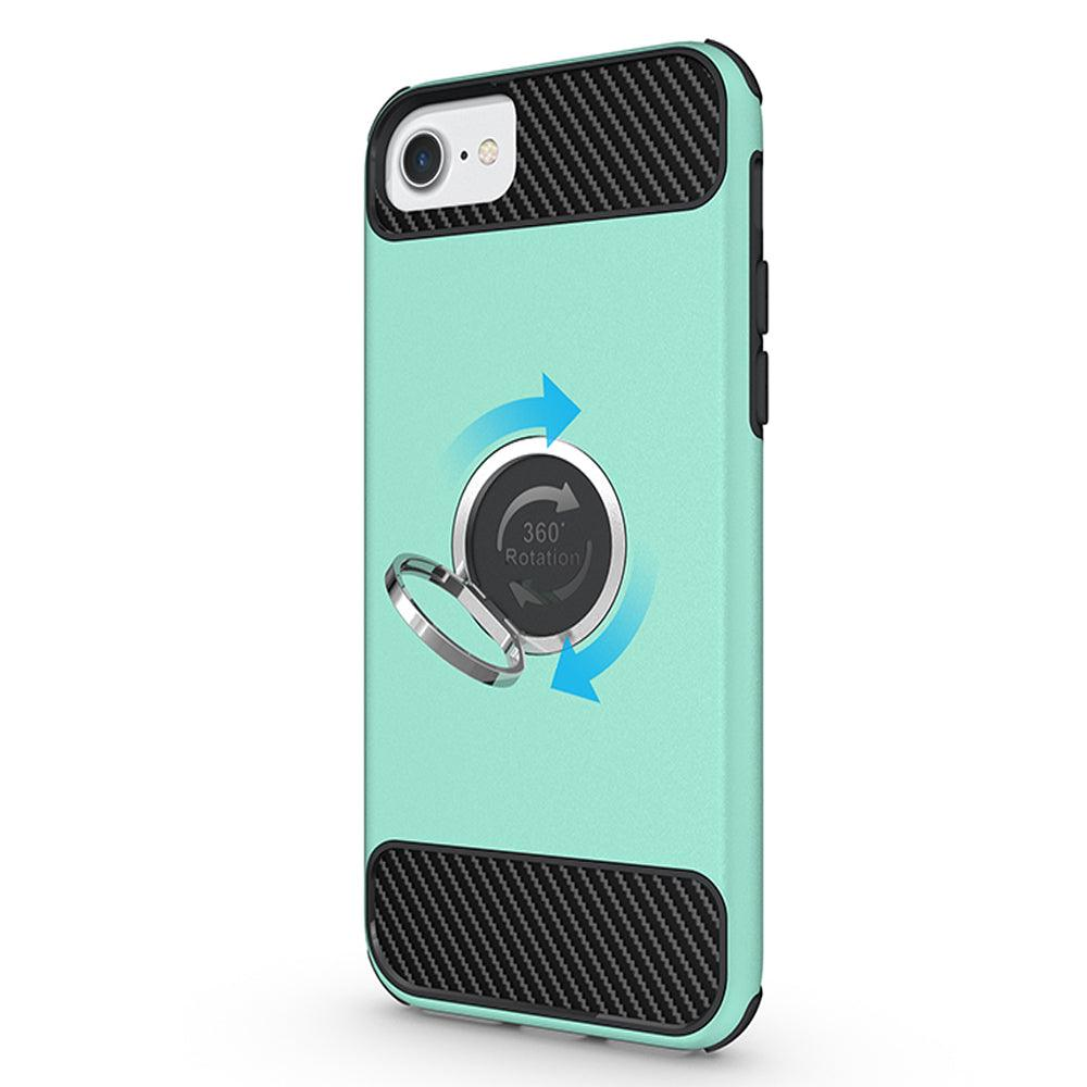 Apple iPhone 8 / 7 / 6S / 6 Shockproof Hybrid 360Degree Ring Stand Case by Modes