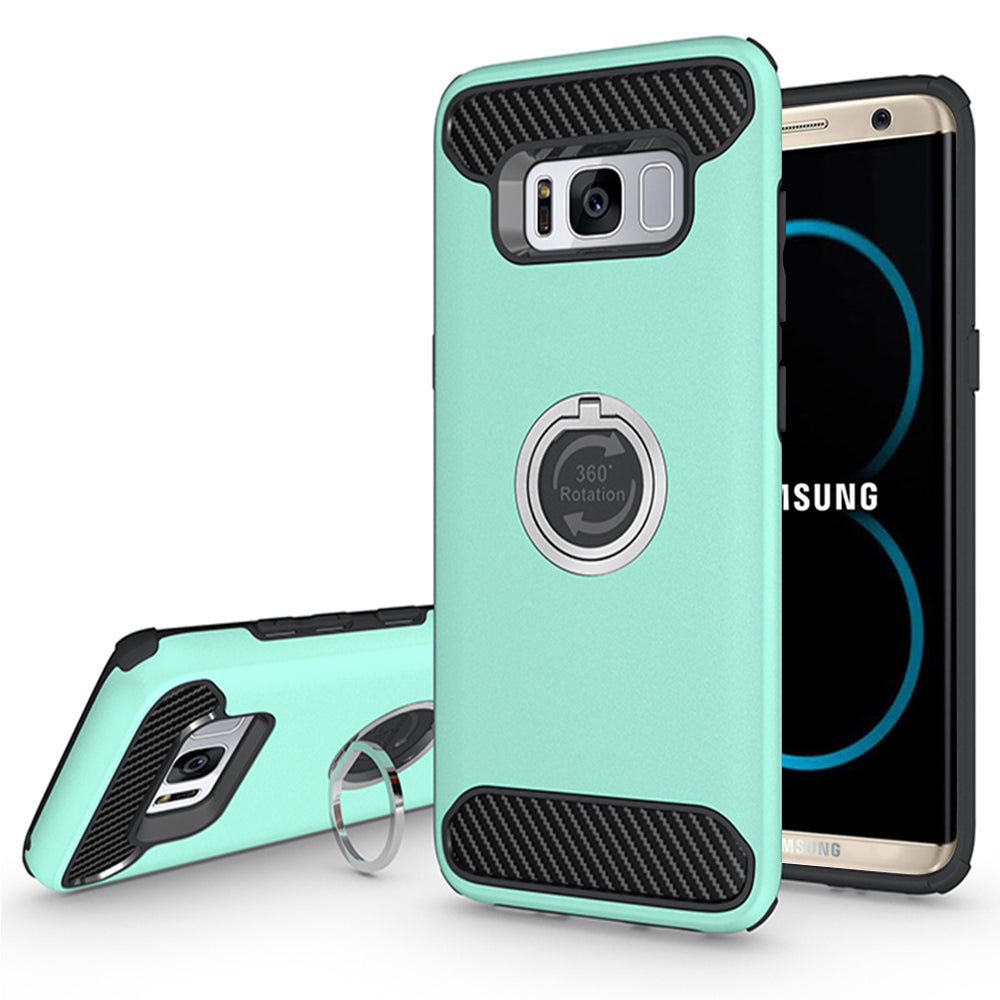 Samsung Galaxy S8 Plus Shockproof Hybrid 360Degree Ring Stand Case by Modes