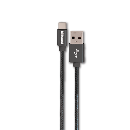 Reiko  Billboard 10ft Type-c USB Cable Black