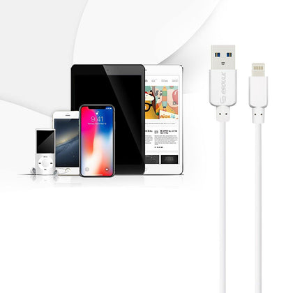 Reiko  Esoulk 10ft Round Cable For Apple Lightning 2a In White