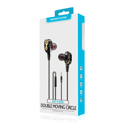 Moisture Mt-h216 Headphones In Black And Gold