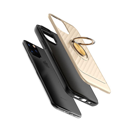 Reiko Apple iPhone 11 Pro Max Case With Ring Holder In Gold - mobileiGo.com