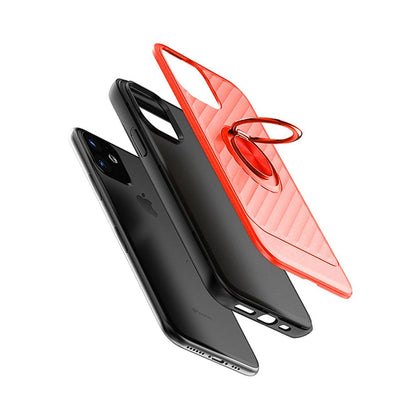 Reiko Apple iPhone 11 Case With Ring Holder In Red - mobileiGo.com