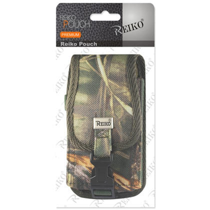 Reiko Vertical Rugged Pouch With Buckle Clip In Camouflage (6.1x3.2x0.7 Inches) - mobileiGo.com