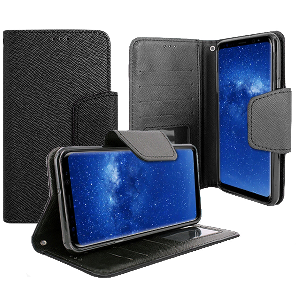 Samsung Galaxy Note 8 Magnetic flap Streak Leather Wallet Pouch Case by Modes