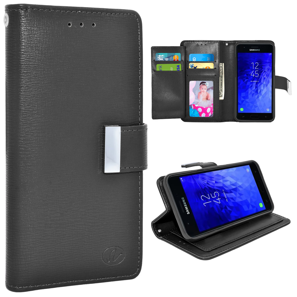 Samsung Galaxy J7 2018 / J737 / Refine Double Flap Folio Leather Wallet Pouch Case by Modes