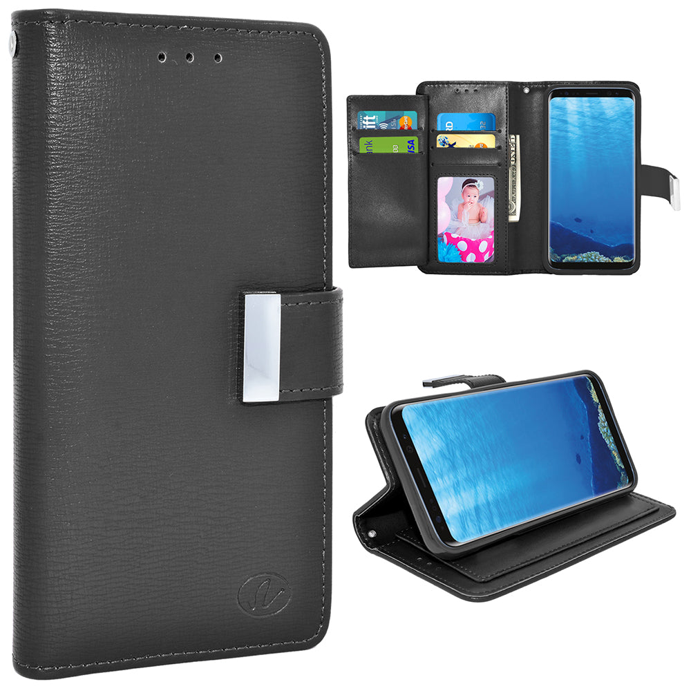 Samsung Galaxy S8 Plus / G955 Double Flap Folio Leather Wallet Pouch Case by Modes