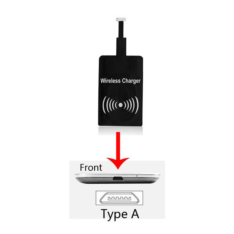 Universal Qi Wireless Power Charger Charging Receiver Module Sticker WRMICR001 For Android Phones W. Micro USB by Modes