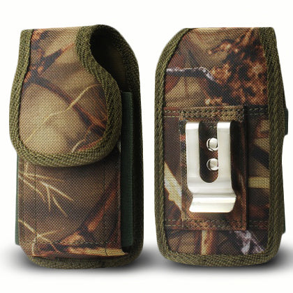 Samsung Galaxy Mega 6.3 inch Rugged Nylon Pouch with Belt Clip loop Camo by Modes