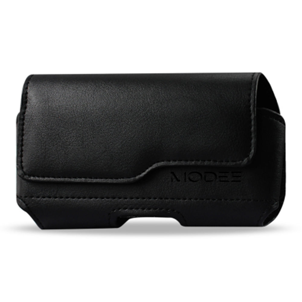 Samsung Galaxy J5 Horizontal Z Lid Leather Pouch - Fits Cell Phone With Case/Cover Black by Modes