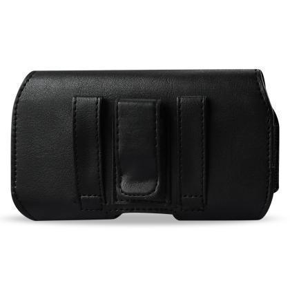 Alcatel One Touch Conquest / 7046T Horizontal Z Lid Leather Pouch - Fits Cell Phone With Case/Cover Black by Modes
