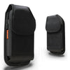 Alcatel One Touch Fierce 2 / 7040T Rugged Nylon Pouch - Fits Cell Phone With Case/Cover Black by Modes